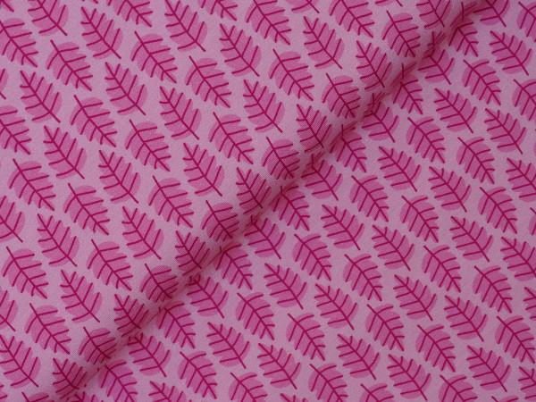 Steinbeck Woddy Jersey Blätter Pink/Rosa