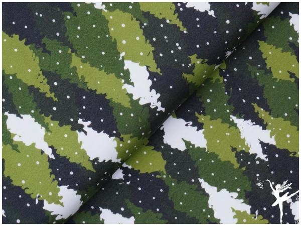 Terry Sweat Tannenbäume Olive (Kombi zu Eulen Panel!)