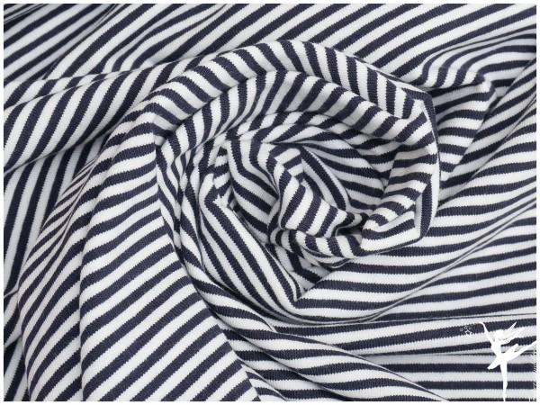 STENZO Ringel Jersey Blau/Weiß 4mm Stripes