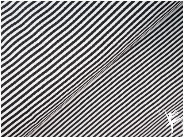 ISA Ringel Jersey Schwarz/Weiß 4 mm Stripes