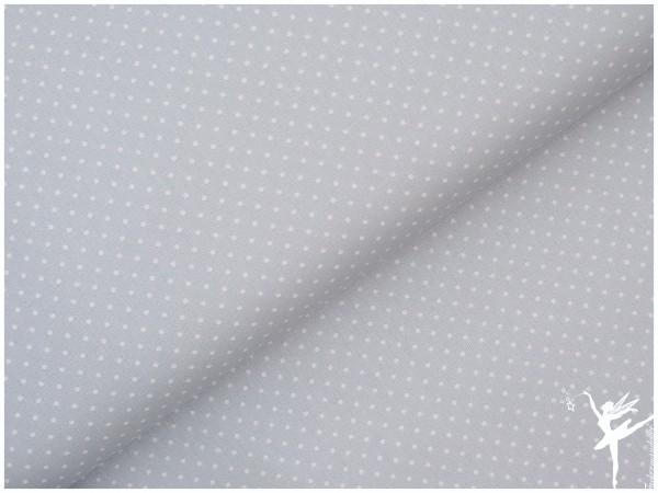 Baumwolle Mini Punkte Hellblau/Weiß