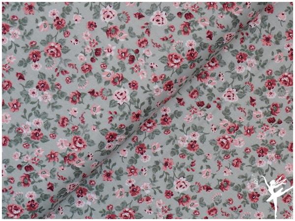 Baumwolle/Popelin Romantic Flowers Mint
