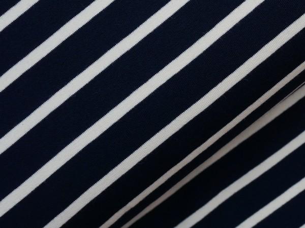 Terry Sweat Ringel Blau/Cream