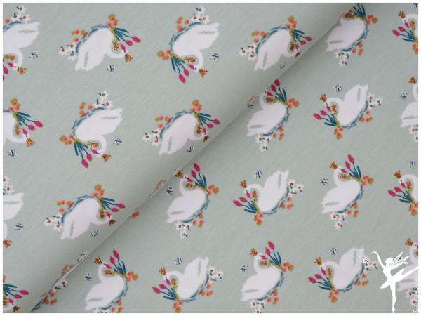 Jersey Glitter Swan Mint