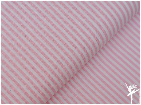 Baumwolle Feine Streifen - ROSA/WEIß
