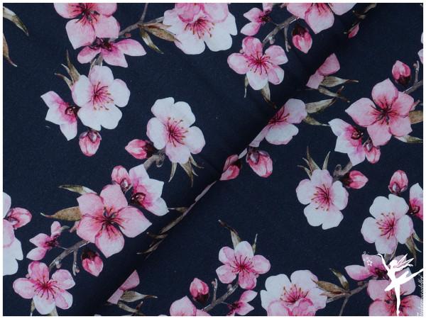 Cherry Blossoms Digital Jersey Blau