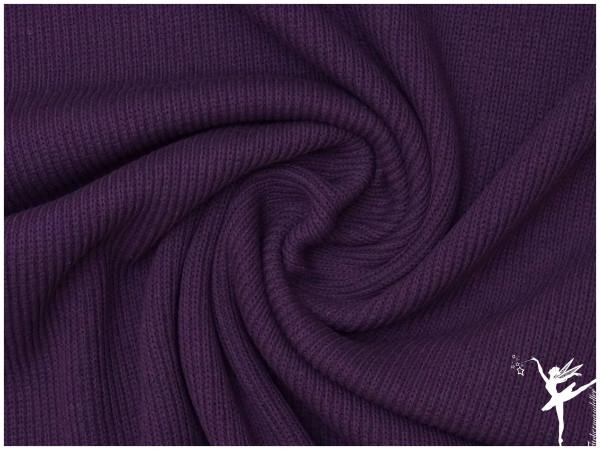 Weicher Rib Baumwoll Strickstoff Lila