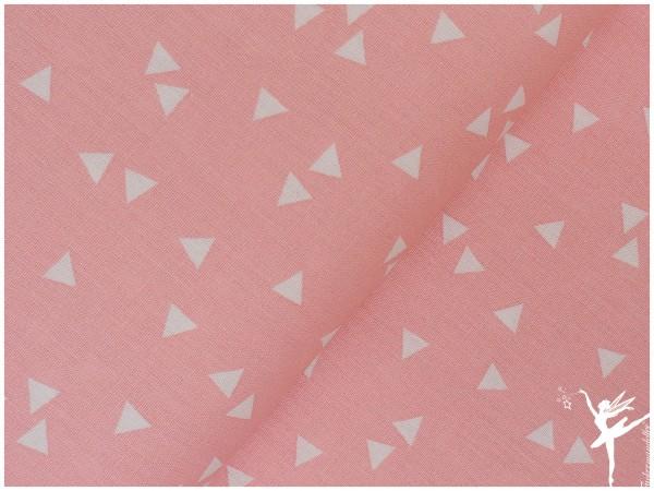 Baumwolle Triangel Rosa/Weiß