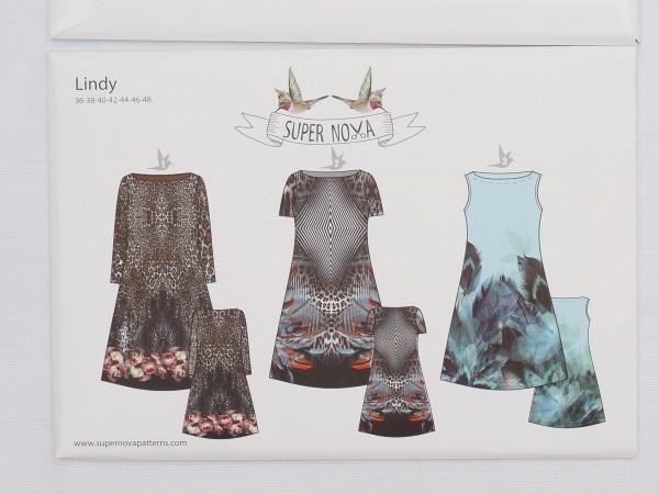 """3 Schnittmuster (Papier) • """"Lindy"""" • Gr. 36-48 • Stenzo Super Nova • Kleid Sommer"""