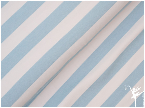 Maxi Stripes Terry Sweat Hellblau
