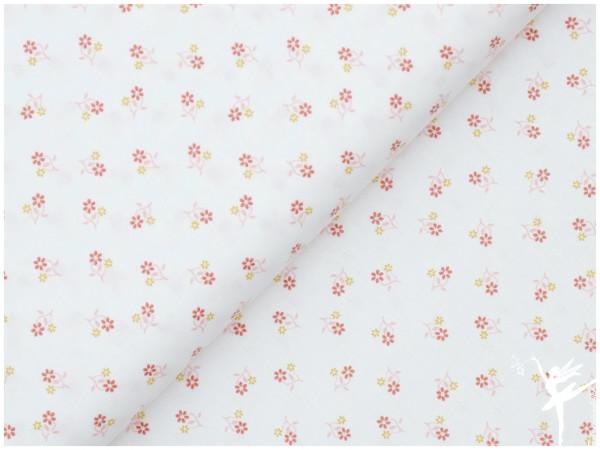 Baumwolle/Webware Petite Fleur Weiß