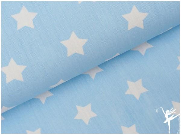 HELLBLAU Sterne (mittelgroß) Baumwolle/Poplin