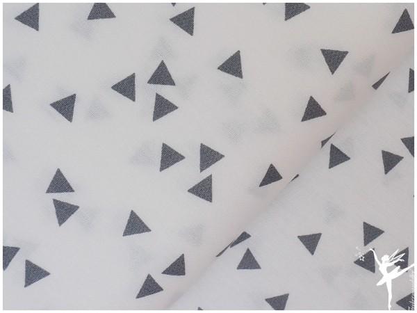 Baumwolle Triangel Weiß/Grau