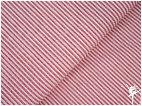 Baumwolle Feine Streifen - Rot/Weiß