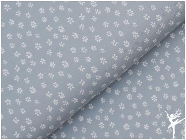 Mini Streublümchen Jersey Staubblau /Weiß