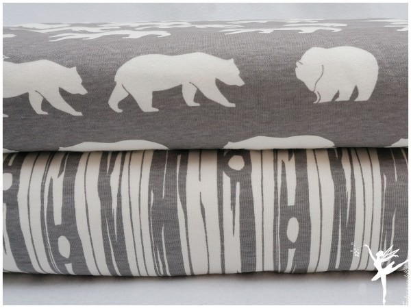 BIO Jersey Baumwolle Birch Fabrics Grau RINDE