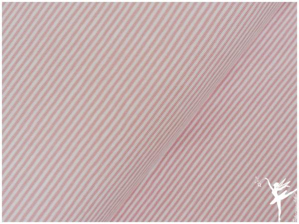 STENZO Ringel Jersey Hellrosa/Weiß 2 mm Stripes