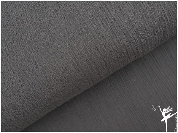 Baumwoll Crinkel Voile Tuchstoff Grau