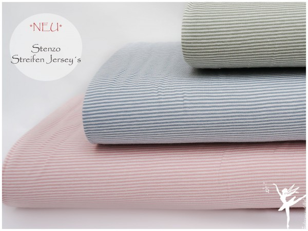 STENZO Ringel Jersey Hellblau/Weiß 2 mm Stripes