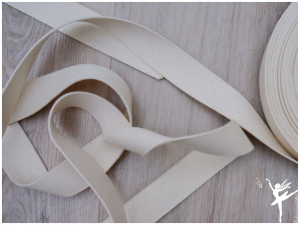 Gurtband Baumwolle 3 cm - CREME