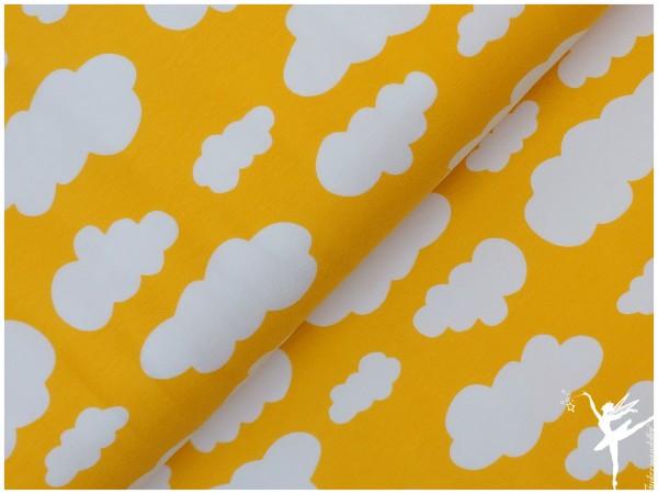 VERENA Jersey Wolken Zitronen-Gelb