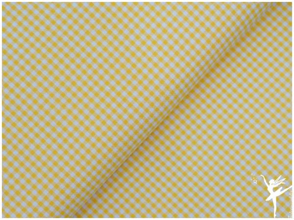 Baumwolle Vichy Karo Gelb/Weiß