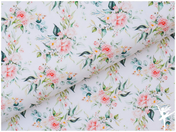 Digital Jersey Frühling Rosen