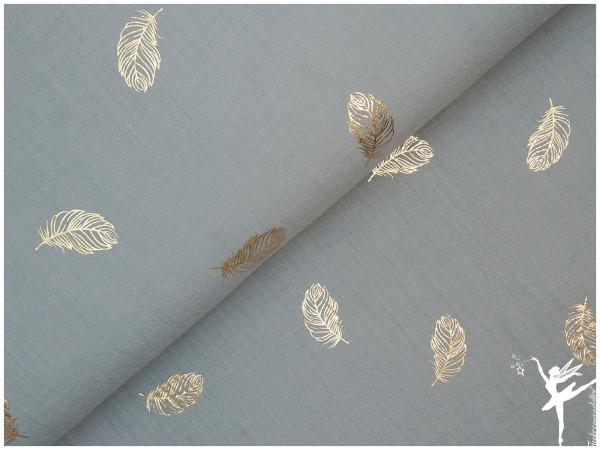 Double Gauze/Musselin Gold-Federn Shadow Mint