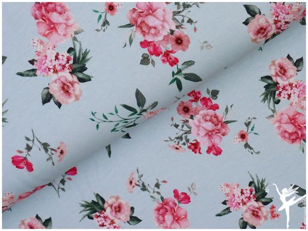 GOTS Digital Sweat Blumen Mint