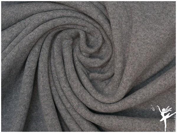Bene ITALIEN Woll Strickstoff - Uni Grau
