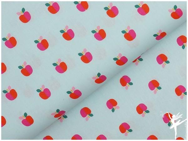 Baumwolle Lovley Apple Mintblau