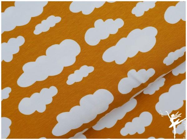 VERENA Jersey Wolken Senf