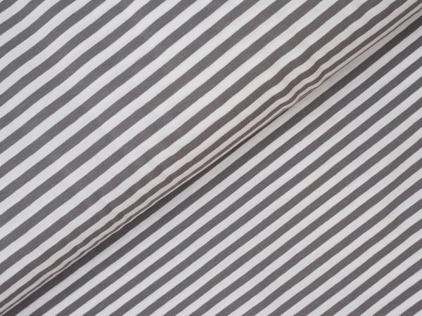 Ringel Jersey Grau/Weiß