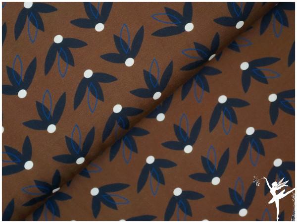 Free Fallin Jersey – Blumen Braun/Blau