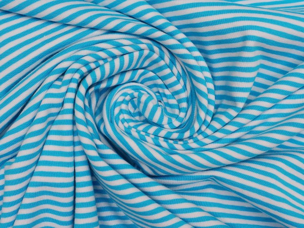 STENZO Ringel Jersey Türkis/Weiß 4 mm Stripes