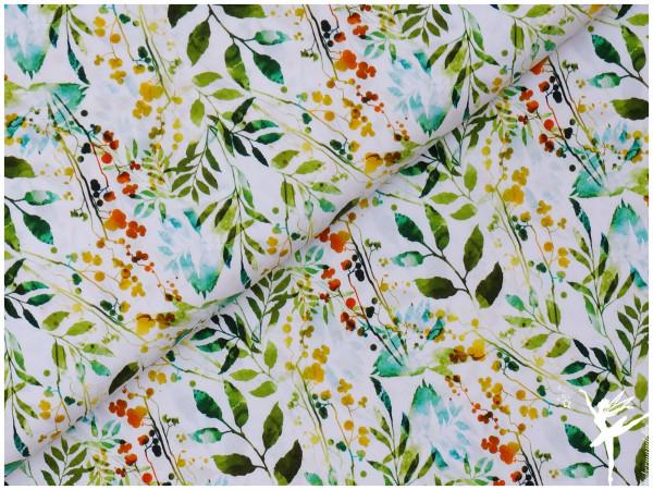 Digital Jersey Frühling Pflanzen Grün