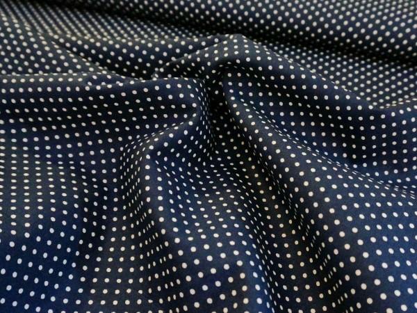 Stenzo Baumwolle Mini Punkte dunkelblau