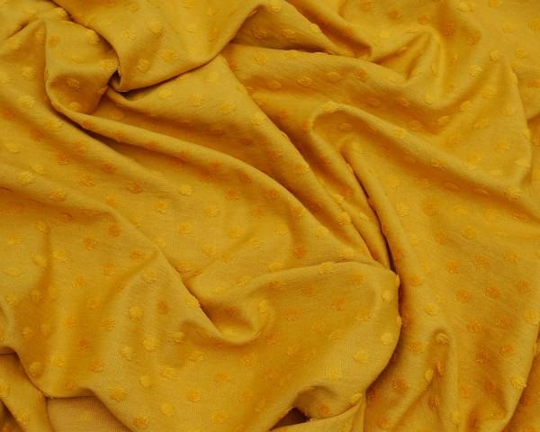 Minkey Dots Baumwoll Jersey Senf -Ökotex 1