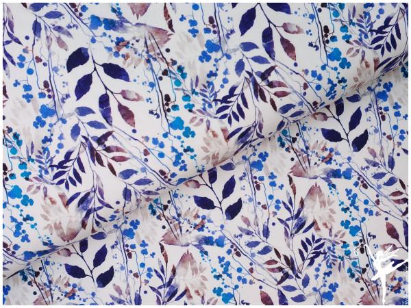 Digital Jersey Frühling Pflanzen Blau