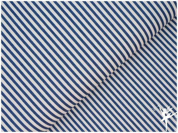 Leichter Sommer Jeans - Streifen Blau/Creme