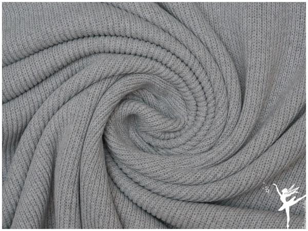 Weicher Rib Baumwoll Strickstoff Hellgrau