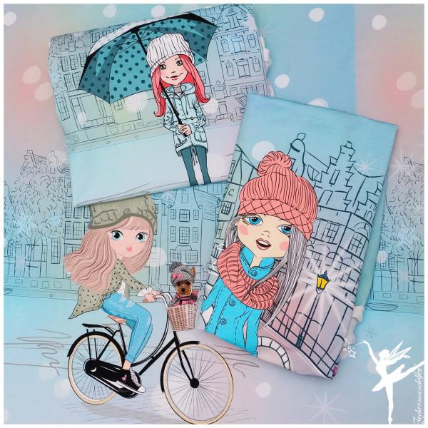 3-er Panel Sweat Winter Girls Regenbogenfarben