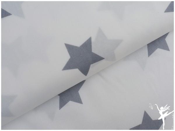 XL STARS Weiß Baumwolle/Poplin