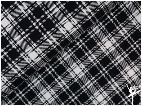 Dundee Karo Sweat Schwarz/Weiß