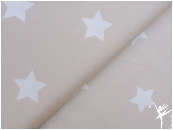 XL STARS LIGHT Beige Baumwolle/Popelin