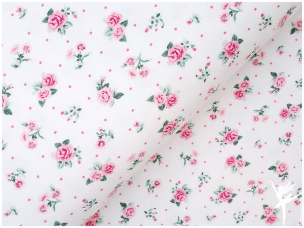 Soft GOTS Sweat Roses Weiß