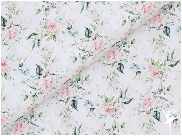 Digital Baumwolle Frühling Rosen