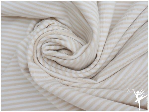 STENZO Ringel Jersey Hellbeige/Weiß 4mm Stripes