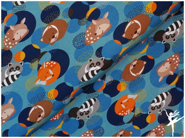 Steinbeck Woddy Jersey schlafende Tiere Blau