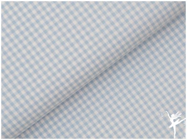 Baumwolle Vichy Karo Hellblau/Weiß